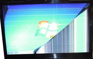 schermo rotto notebook